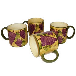 Sonoma Collection Hand-painted 4-piece Coffee Mug Set