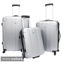 Traveler&#39;s Choice TC3900 Rome 3-piece Hardshell Spinner/Rolling Luggage Set