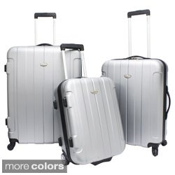 Traveler's Choice TC3900 Rome 3-piece Hardshell Spinner/Rolling Luggage Set