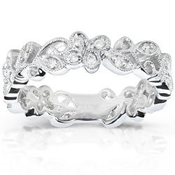 14k White Gold 1/5ct TDW Round Diamond Band (H-I, I1-I2)
