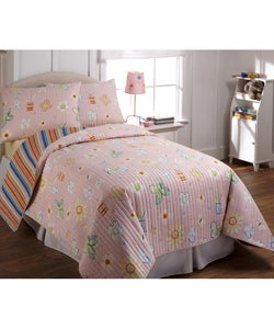 Happy Flowers Quilt Set
