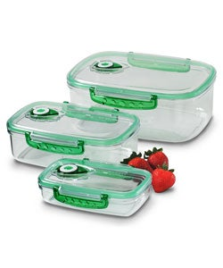 Freshvac professional rectangular food storage containers for Alpine cuisine glass bowl set