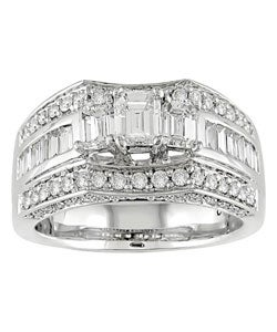 Miadora 14k White Gold 2ct TDW Diamond Engagement Ring