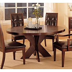 Round X Base Dining Table
