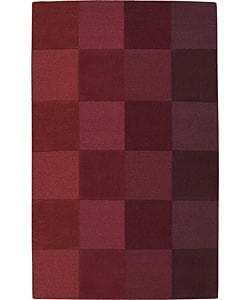 Nourison Hand-tufted Red Wool Rug (8' x 10'6)