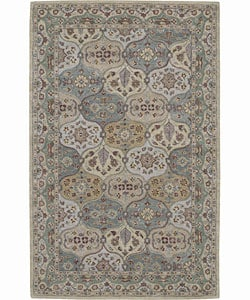 Hand-tufted Light Green Wool Rug (8' x 10'6)
