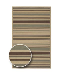 Cafe Series Stripe Indoor/Outdoor Rug (6' x 9')