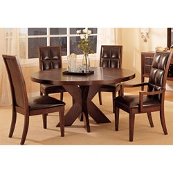 7-piece Round X Base Dining Set