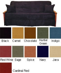 Solid Micro Suede Futon Slip Cover Set