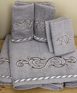 Avanti Catherine Set of 6 Charcoal Towels