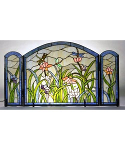 Tiffany Style Dragonflies Fireplace Screen 10784692 Shopping Great Deals On