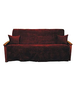 Jacquard Chenille Skirted Futon Slipcover Set