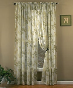 Fern 84-inch Rod Pocket Tailored Window Curtain Panel
