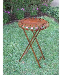 Iron Round Folding Indoor/ Outdoor Plant Table