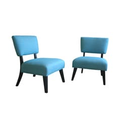 Tiffany turquoise accent chair set of 2 10800625 overstock com