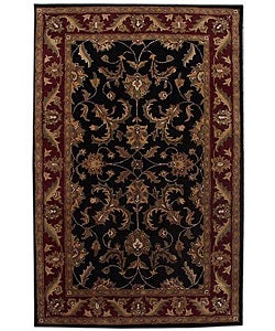 Hand-tufted Corola Black Wool Rug (8' x 10'6)