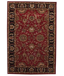 Hand-tufted Tarana Red Wool Rug (8' x 10'6)