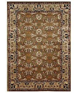 Hand-tufted Kamela Brown Wool Rug (8' x 10'6)