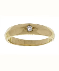 14k Yellow Gold Diamond Baby Ring