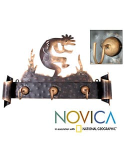 Kokopelli Serenade Iron Coat Rack (Mexico)
