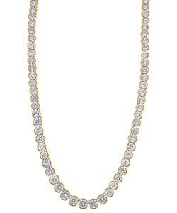 Simon Frank 14k Gold Overlay Riviera CZ Diamoness Necklace