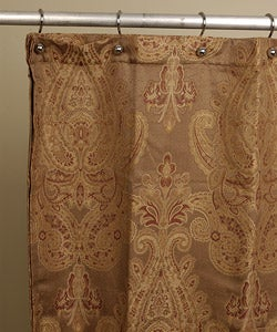 Royal Paisley Jacquard Shower Curtain By Croscill | Overstock.com