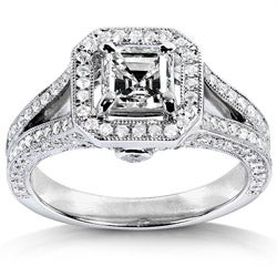14k White Gold 1 1/3ct TDW Diamond Engagement Ring (H-I, SI1)