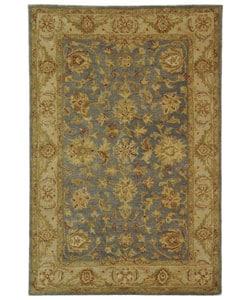 Safavieh Handmade Antiquities Jewel Grey Blue/ Beige Wool Rug (4' x 6')