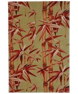 Safavieh Handmade Bamboo Sage/ Rust New Zealand Wool Rug (4' x 6')