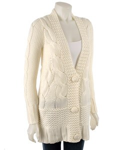 BCBGirls Cable Knit Cardigan