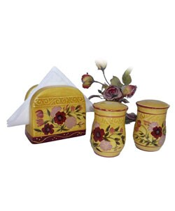 Floral Garden Napkin Holder/ Salt/ Pepper Shakers