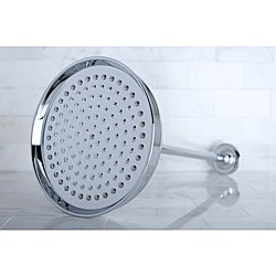 Chrome 8-inch Rimmed Showerhead and Arm