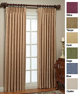 Thermal Damask Pinch Pleated 63-inch Panel Pair