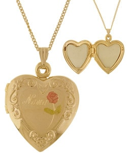 Goldfill Heart Locket with 'Nana' Engraving