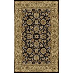 Hand-tufted Brown Wool Rug (6' x 9')