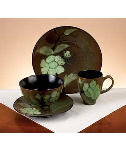 Green Shadows 16-piece Dinnerware Set