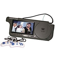 Grey 7-inch Visor Car DVD Player/ Game Console