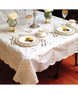 Gold Ribbon Box Design Tablecloth