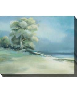 Caroline Ashton Lakeside Tree I Wrapped Canvas Art