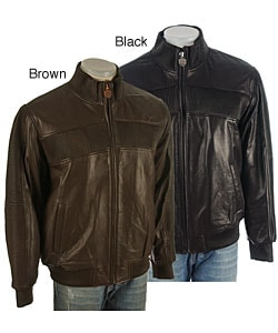 Phat Farm Men's Lamb Leather Jacket