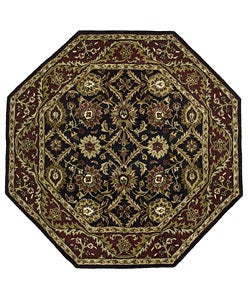 Elite Traditional Handmade Wool Rug (6' Octagon)