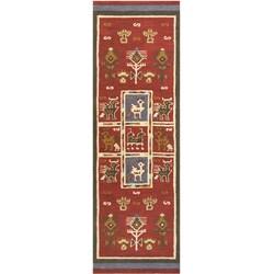 Handmade Elite Tribal Wool Rug Runner (2'6 x 12')