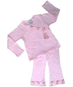 Sweet Jojo Designs 2-piece Pink Satin Ribbon Outfit