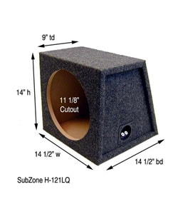 12-Inch Subwoofer Box Plans