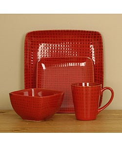 Cuisinart 16-piece Red Square Dinnerware Set