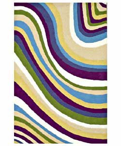 Hand-tufted Color Wave Kids' Rug (4' x 6')
