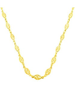 Goldkist 18k Gold Over Sterling Silver Filigee Necklace