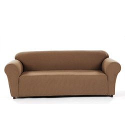 Pebble Check Stretch Sofa Slipcover
