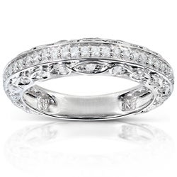 14k White Gold 1/3ct TDW Brilliant Diamond Ring