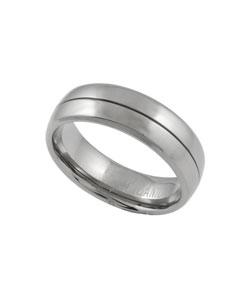 Men's Titanium Comfort Band Ring with Polished Finish